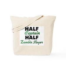 Half Captain Half Zombie Slayer Tote Bag