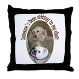 Bulldog and Golden Retriever Throw Pillow