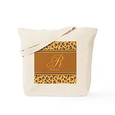 Monogram Animal Print Tote Bag
