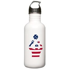 American Flag Volleyball Set Water Bottle