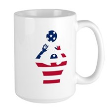 American Flag Volleyball Set Mugs