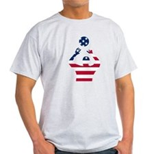 American Flag Volleyball Set T-Shirt