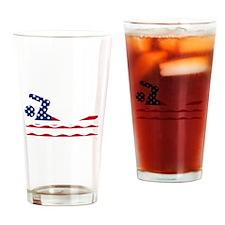 American Flag Swimmer Drinking Glass