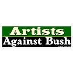 Artists Against Bush Bumper Sticker