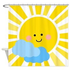 Cute Sunshine Shower Curtain