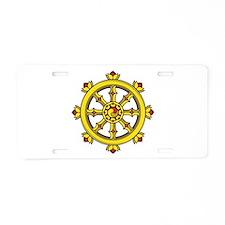 Dharmachakra Wheel Aluminum License Plate