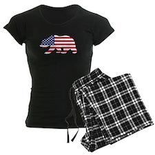 American Flag California Bear Pajamas