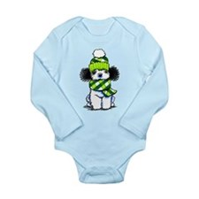 Parti Poodle Scarf Long Sleeve Infant Bodysuit
