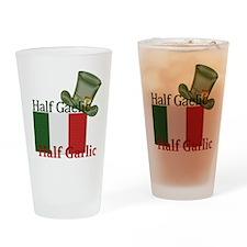 halfgaelichalfgarlichatandflag Drinking Glass