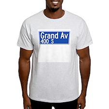 Grand Ave., Los Angeles - USA Ash Grey T-Shirt