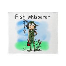 Fish Whisperer Throw Blanket
