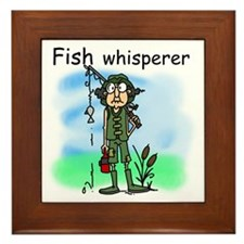 Fish Whisperer Framed Tile