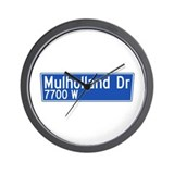 Mulholland Dr., Los Angeles - USA  Wall Clock