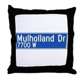Mulholland Dr., Los Angeles - USA  Throw Pillow