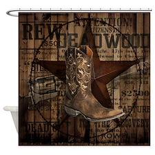 western cowboy Shower Curtain
