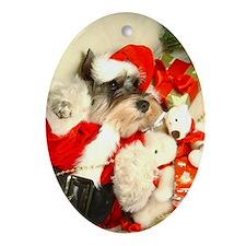 Mini Schnauzer X'mas Oval Ornament