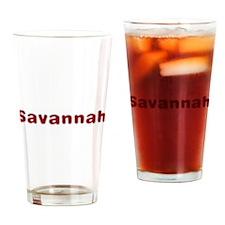 Savannah Santa Fur Drinking Glass