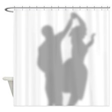 50s Dancing Couple Silhouette Shower Curtain