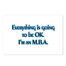 OK I'm an MBA Postcards (Package of 8)