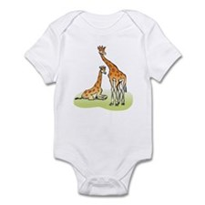 2 Giraffes Infant Bodysuit