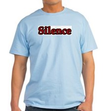 Silence Is Golden Ash Grey T-Shirt