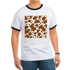 Brown Spot Pattern T-Shirt