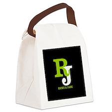 Modern Monogram Canvas Lunch Bag