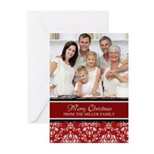 Red Damask Christmas Greeting Cards (Pk of 10)
