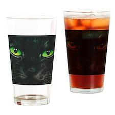 Black Cat Nebula by Lori Alexander Drinking Glass
