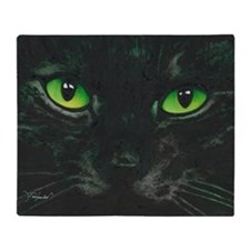 Black Cat Nebula by Lori Alexander Throw Blanket