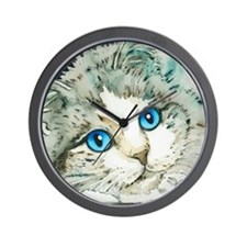 Ragdoll Cat Michelle by Lori Alexander Wall Clock