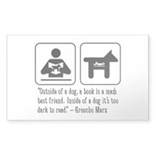 Book man's best friend Groucho Marx Decal