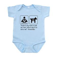 Book mans best friend Groucho Marx Infant Bodysuit