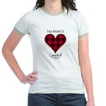 Heart - Campbell of Ardmaddie Jr. Ringer T-Shirt