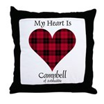 Heart - Campbell of Ardmaddie Throw Pillow