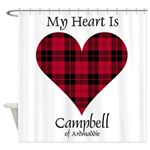 Heart - Campbell of Ardmaddie Shower Curtain