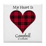 Heart - Campbell of Ardmaddie Tile Coaster