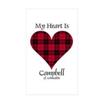 Heart - Campbell of Ardmaddie Sticker (Rectangle 1