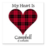 Heart - Campbell of Ardmaddie Square Car Magnet 3