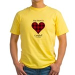 Heart - Campbell of Ardmaddie Yellow T-Shirt