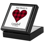Heart - Campbell of Ardmaddie Keepsake Box