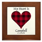Heart - Campbell of Ardmaddie Framed Tile