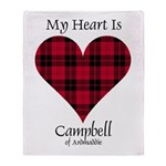 Heart - Campbell of Ardmaddie Throw Blanket