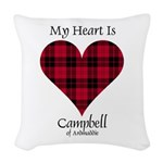 Heart - Campbell of Ardmaddie Woven Throw Pillow