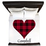 Heart - Campbell of Ardmaddie King Duvet