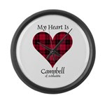 Heart - Campbell of Ardmaddie Large Wall Clock
