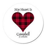 Heart - Campbell of Ardmaddie Round Car Magnet