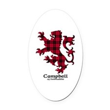 Lion - Campbell of Ardmaddie Oval Car Magnet
