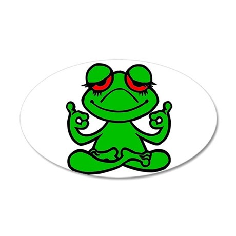 Frog Lotus Wall Decal