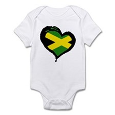Jamaica One Heart Infant Bodysuit
